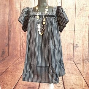 ISABEL Maternity Peasant Striped TOP Size S.